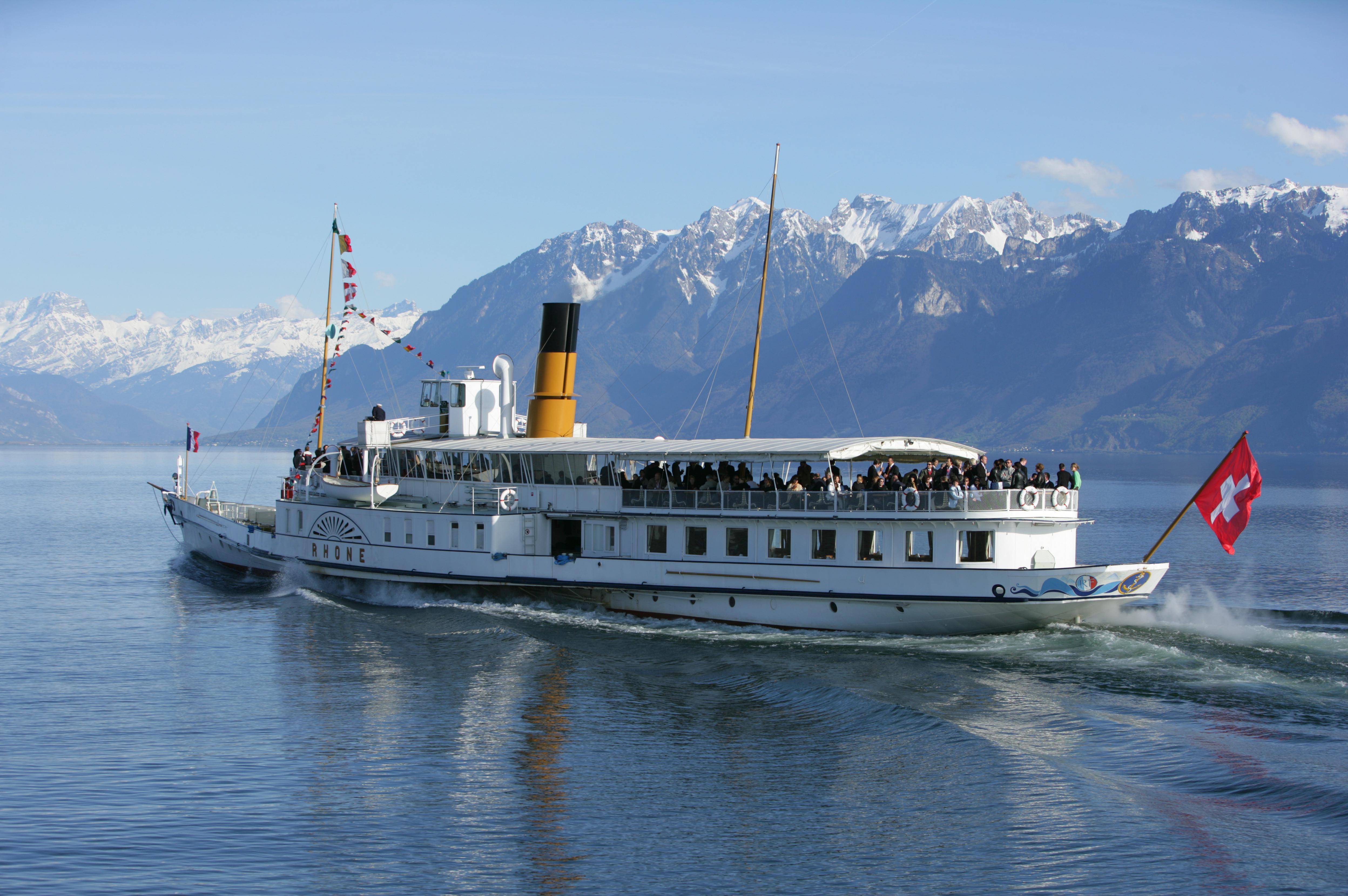 Excursion à bord d'un bateau de la CGN
